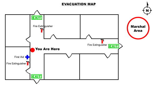 How to create an emergency evacuation map for your business sample evacuation map sciox Images
